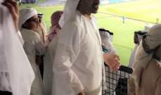 ولي عهد أبو ظبي تابع مباراة ريال مدريد والجزيرة
