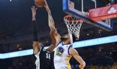 NBA : غولدن ستايت وريورز يفوز على سان أنتونيو سبيرز