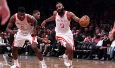 NBA: هيوستن يهدد صدارة الواريرز وتورنتو يتفوق على بوسطن