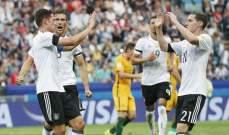 المانيا تفوز على استراليا انكلترا تتخطى سلوفاكيا وكيربر في الصدارة
