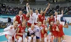 سيدات روسيا إلى ربع نهائي بطولة اوروبا لكرة الطائرة