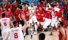 لبنان يفوز على يوباك الصربي بفارق ست نقاط إستعدادا لبطولة آسيا