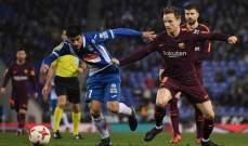 ركلة جزاء صحيحة لبرشلونة امام اسبانيول