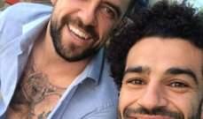 محمد صلاح وداني اينغز في صورة معاً خلال معسكر دبي