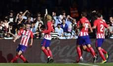 اتلتيكو مدريد يحقق انتصار صعب امام سلتا فيغو