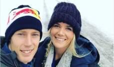 برندن هارتلي يأخذ زوجته الجديدة الى جبال النمسا