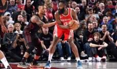 NBA: تورنتو وهيوستن يعززان صدارتهما