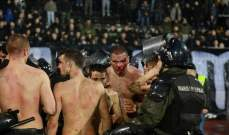 دماء وكدمات ابرز ما خرجت به مباراة ديربي بلغراد