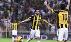 الاتحاد يتفوق على الشباب بثلاثية في كأس الملك