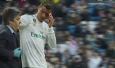 رونالدو يخرج من لقاء لاكورونا والدماء تغطي وجهه