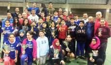 132 لاعباً ولاعبة تنافسوا لاحراز اللقب، فرنسيس وحبيقة بطلا لبنان بالريشة الطائرة