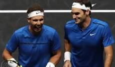 نادال و فيدرير يفوزان في اول مباراة زوجي لهما في تاريخ كرة المضرب