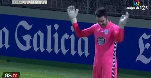 هدف من مسافة بعيدة بقدم حارس مرمى في الدوري الاسباني