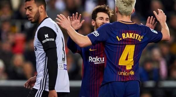 هدفي برشلونة في مرمى فالنسيا ضمن نصف نهائي كاس ملك اسبانيا