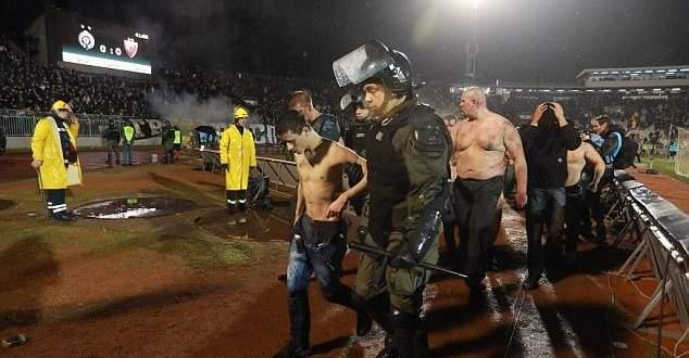 الاشكال الذي حصل في مباراة بلغراد