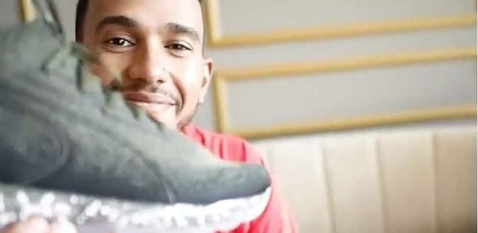بوما ترسل حذاء جديد الى لويس هاميلتون