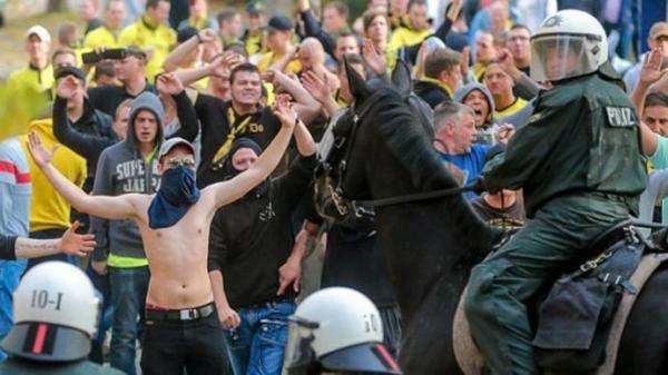 مباراة ريال مدريد وبوروسيا دورتموند تثير الفوضى في المانيا
