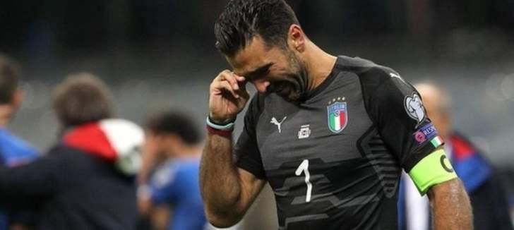 بوفون يعتزل اللعب الدولي بحزن كبير