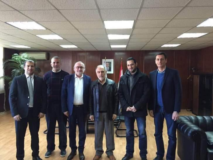 وفد اتحاد كرة السلة برئاسة كاخيا زار الوزير فنيش والمدير العام خيامي